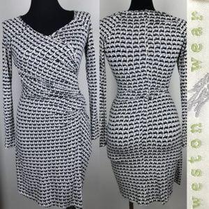 Weston Wear Anthropologie Dress Faux Wrap Stretch